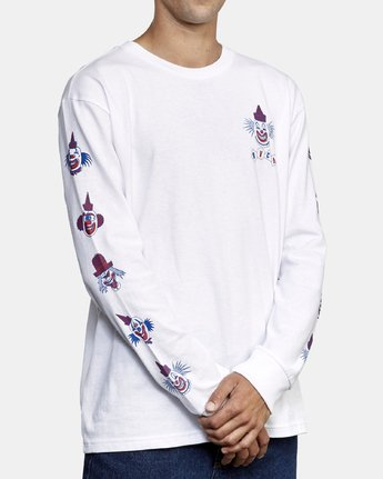 4 Big Top Long Sleeve T-Shirt White M492WRBT RVCA