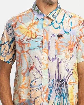4 Sage Vaughn Floral Button-Up Shirt  M501TRVF RVCA