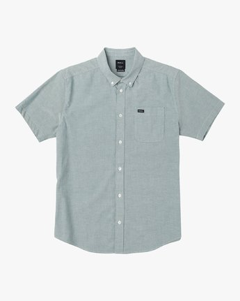 0 That'll Do Stretch Button-Up Shirt Green M501VRTD RVCA