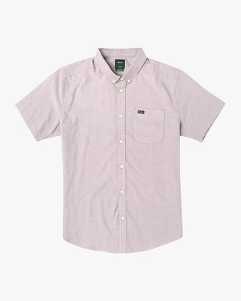 5 THAT'LL DO STRETCH BUTTON-UP SHIRT Red M501VRTD RVCA