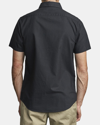 6 That'll Do Stretch Button-Up Shirt Black M501VRTD RVCA