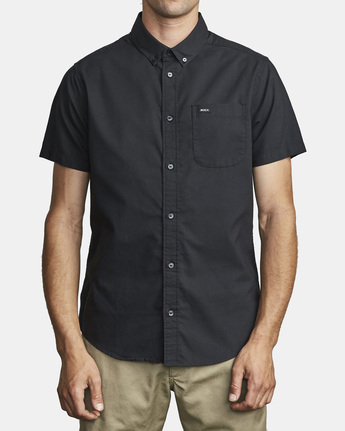 5 That'll Do Stretch Button-Up Shirt Black M501VRTD RVCA
