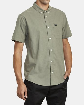 4 THATLL DO STRETCH SHORT SLEEVE SHIRT Green M501VRTD RVCA