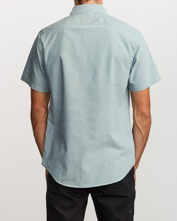 3 That'll Do Stretch Button-Up Shirt Green M501VRTD RVCA