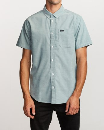 1 That'll Do Stretch Button-Up Shirt Green M501VRTD RVCA