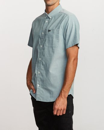 2 That'll Do Stretch Button-Up Shirt Green M501VRTD RVCA