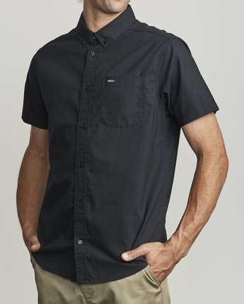 3 That'll Do Stretch Button-Up Shirt Black M501VRTD RVCA