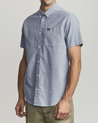 1 That'll Do Stretch Button-Up Shirt Blue M501VRTD RVCA