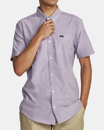 5 THAT'LL DO STRETCH BUTTON-UP SHIRT  M501VRTD RVCA