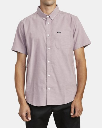 0 THAT'LL DO STRETCH BUTTON-UP SHIRT Red M501VRTD RVCA