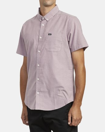 3 THAT'LL DO STRETCH BUTTON-UP SHIRT Red M501VRTD RVCA