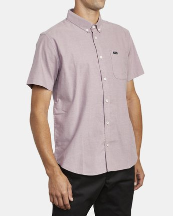 4 THAT'LL DO STRETCH BUTTON-UP SHIRT Red M501VRTD RVCA
