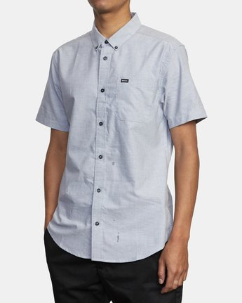 3 That'll Do Stretch Button-Up Shirt White M501VRTD RVCA