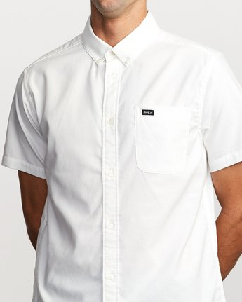 4 That'll Do Stretch Button-Up Shirt White M501VRTD RVCA