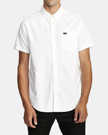 0 That'll Do Stretch Button-Up Shirt White M501VRTD RVCA