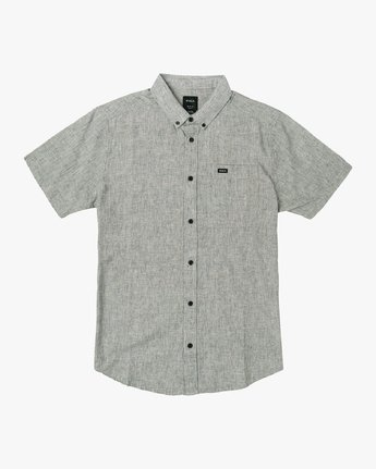 4 That'll Do Textured Button-Up Shirt White M501VRTT RVCA
