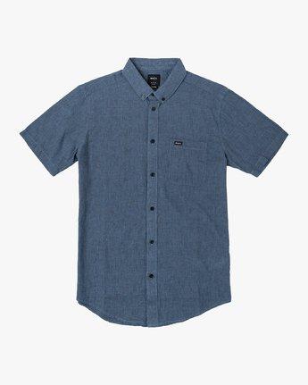 0 That'll Do Textured Button-Up Shirt Blue M501VRTT RVCA