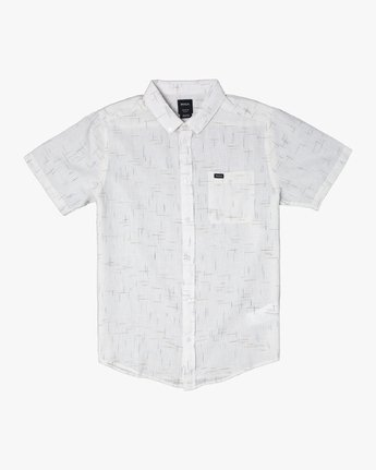 10 That'll Do Textured Button-Up Shirt White M501VRTT RVCA