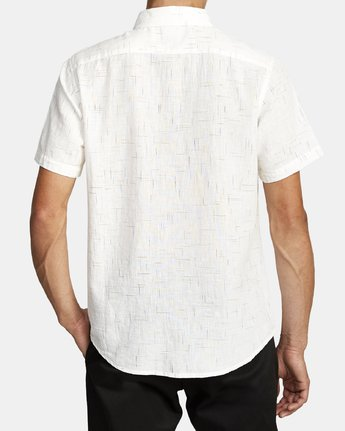 7 That'll Do Textured Button-Up Shirt White M501VRTT RVCA