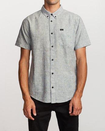 0 That'll Do Textured Button-Up Shirt White M501VRTT RVCA