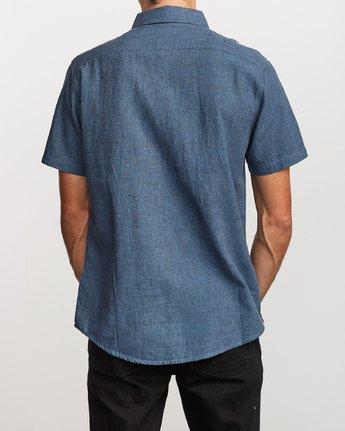 3 That'll Do Textured Button-Up Shirt Blue M501VRTT RVCA