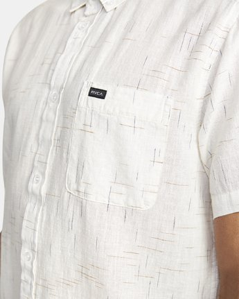 9 That'll Do Textured Button-Up Shirt White M501VRTT RVCA