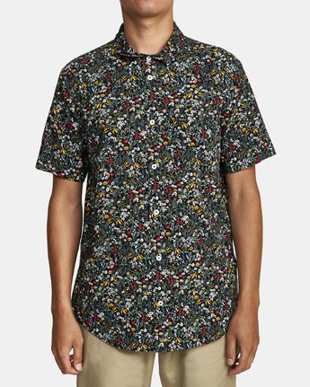 1 Costello Floral Button-Up Shirt Grey M501WRCO RVCA