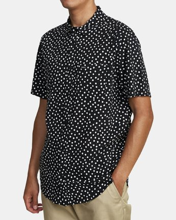 6 Costello Floral Button-Up Shirt Black M501WRCO RVCA