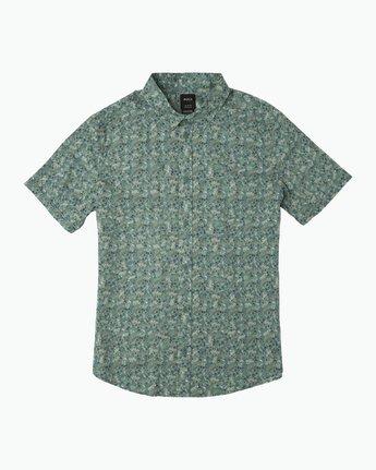 0 Makoto Printed Button-Up Shirt Green M502SRMA RVCA