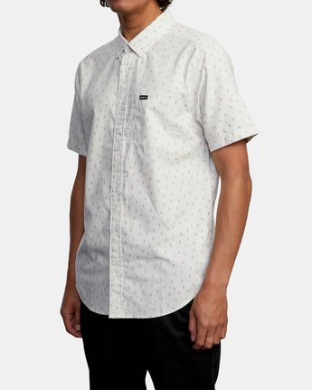 3 That'll Do Short Sleeve Shirt Silver M502VRTD RVCA