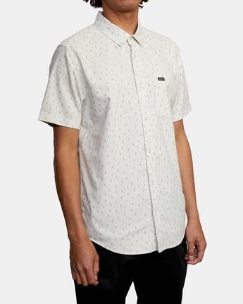 4 That'll Do Short Sleeve Shirt Silver M502VRTD RVCA