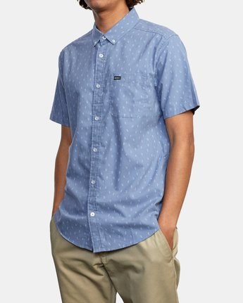 3 That'll Do Short Sleeve Shirt Grey M502VRTD RVCA