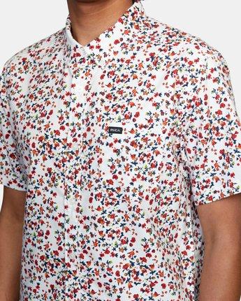 4 That'll Do Short Sleeve Shirt White M502VRTD RVCA