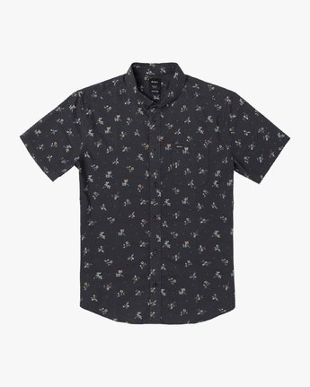 1 THAT'LL DO PRINT BUTTON-UP SHIRT Black M502VRTP RVCA