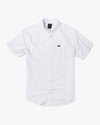 2 THAT'LL DO PRINT BUTTON-UP SHIRT White M502VRTP RVCA