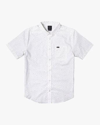 3 THAT'LL DO PRINT BUTTON-UP SHIRT White M502VRTP RVCA