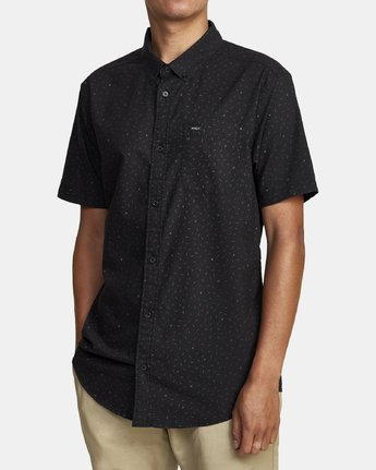 3 THAT'LL DO PRINT BUTTON-UP SHIRT Black M502VRTP RVCA