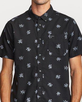3 That'll Do Print Button-Up Shirt Black M502VRTP RVCA
