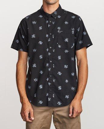 1 That'll Do Print Button-Up Shirt Black M502VRTP RVCA