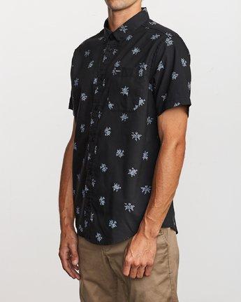 2 That'll Do Print Button-Up Shirt Black M502VRTP RVCA