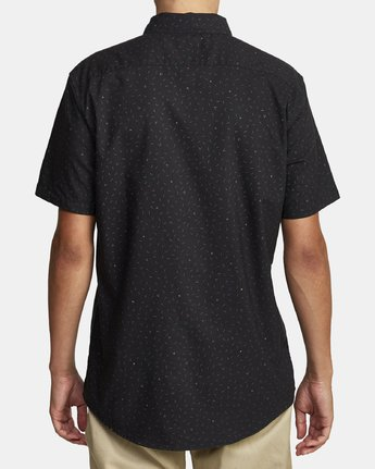 7 THAT'LL DO PRINT BUTTON-UP SHIRT Black M502VRTP RVCA