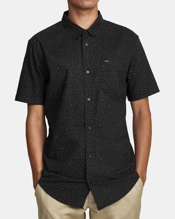 6 THAT'LL DO PRINT BUTTON-UP SHIRT Black M502VRTP RVCA