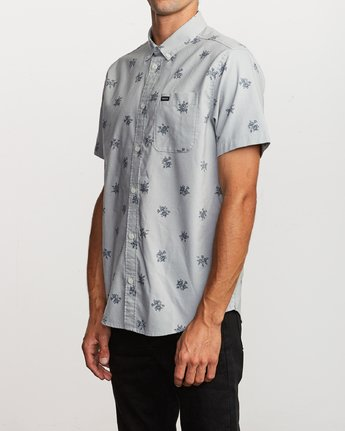 2 That'll Do Print Button-Up Shirt Green M502VRTP RVCA