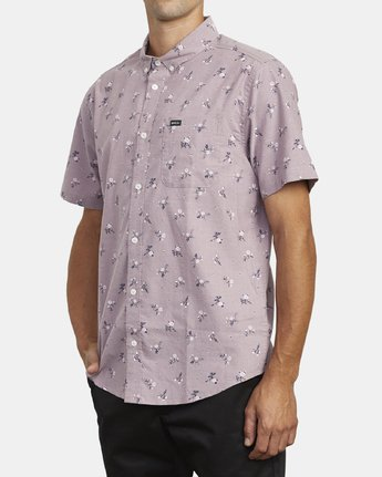 3 THAT'LL DO PRINT BUTTON-UP SHIRT Red M502VRTP RVCA