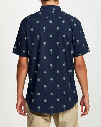 1 THAT'LL DO PRINT BUTTON-UP SHIRT Blue M502VRTP RVCA