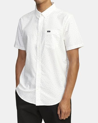 1 THAT'LL DO PRINT BUTTON-UP SHIRT White M502VRTP RVCA