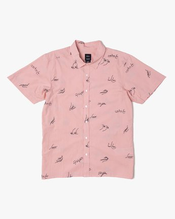 2 JOHANNA GESTURES BUTTON-UP SHIRT Pink M5031RJG RVCA