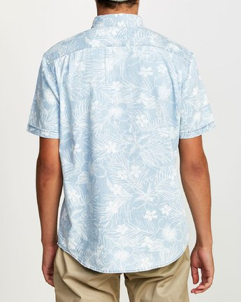 1 DEAD FLAG FLORAL II SHORT SLEEVE SHIRT Blue M5032RDF RVCA