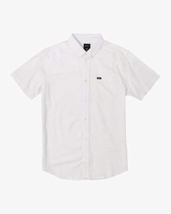 3 That'll Do Dobby Button-Up Shirt White M503VRDD RVCA