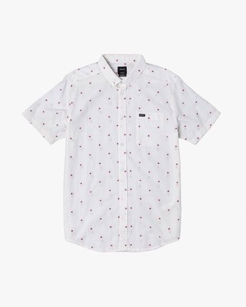 4 THATLL DO DOBBY SHORT SLEEVE SHIRT White M503VRDD RVCA